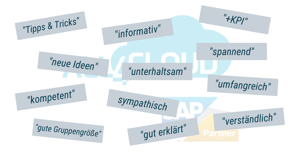 Cloud ERP SAP Business ByDesign all4cloud Workshops Schulungen FiBu Finanzen Key User Admin